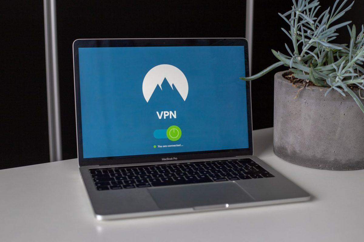 VPN on laptop screen